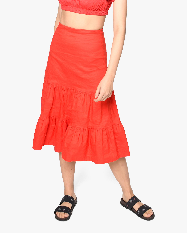 Nicole Miller Tiered Midi Skirt 0