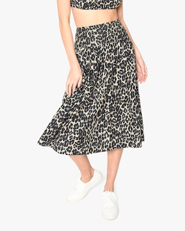 Nicole Miller Cheetah Midi Skirt 1