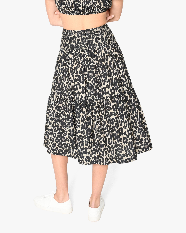 Nicole Miller Cheetah Midi Skirt 2