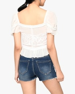 Nicole Miller Embroidered Silk Blouse 1