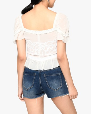 Nicole Miller Embroidered Silk Blouse 2