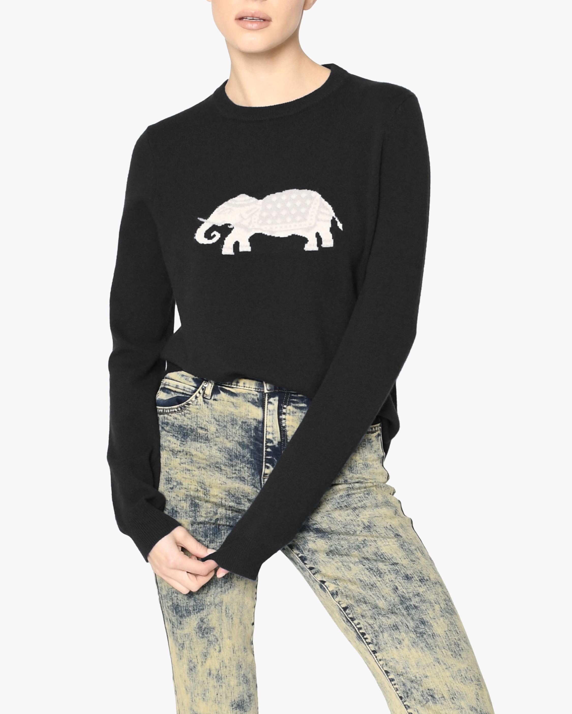 Nicole Miller Elephant Cashmere Crewneck Sweater 2