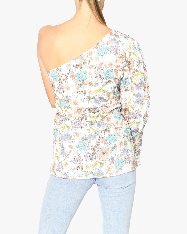 Nicole Miller Jasmine Floral One-Shoulder Top 4