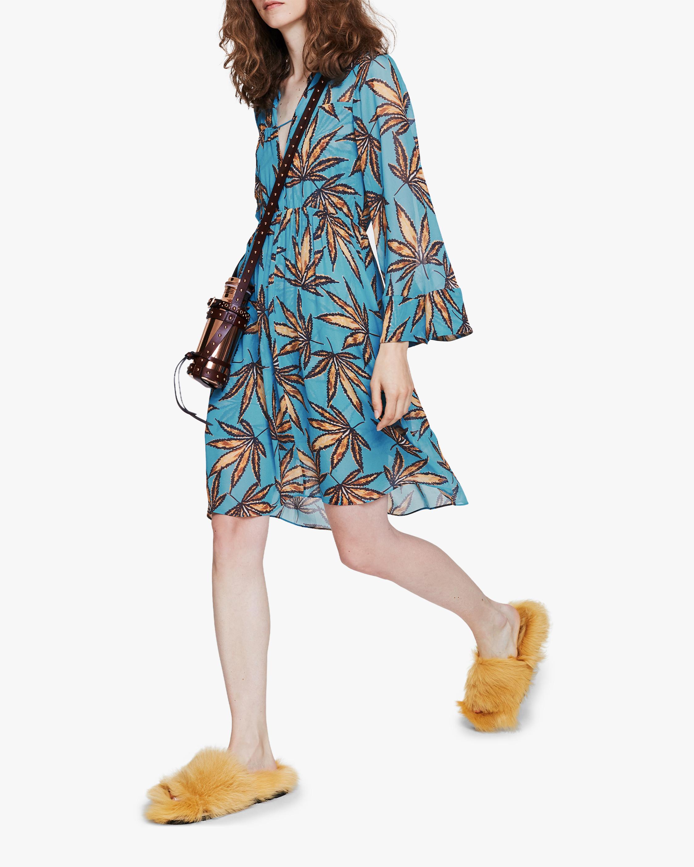Dorothee Schumacher Translucent Leaves Dress 0