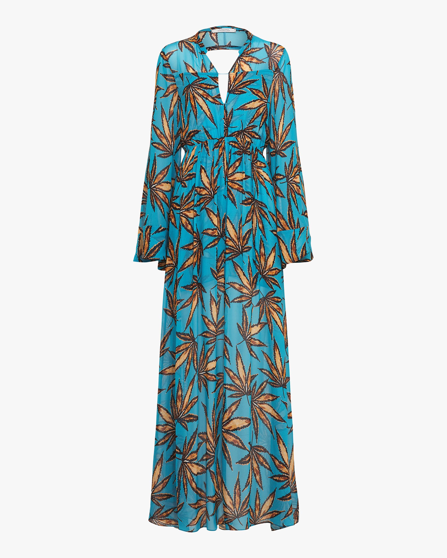 Dorothee Schumacher Translucent Leaves Maxi Dress 1