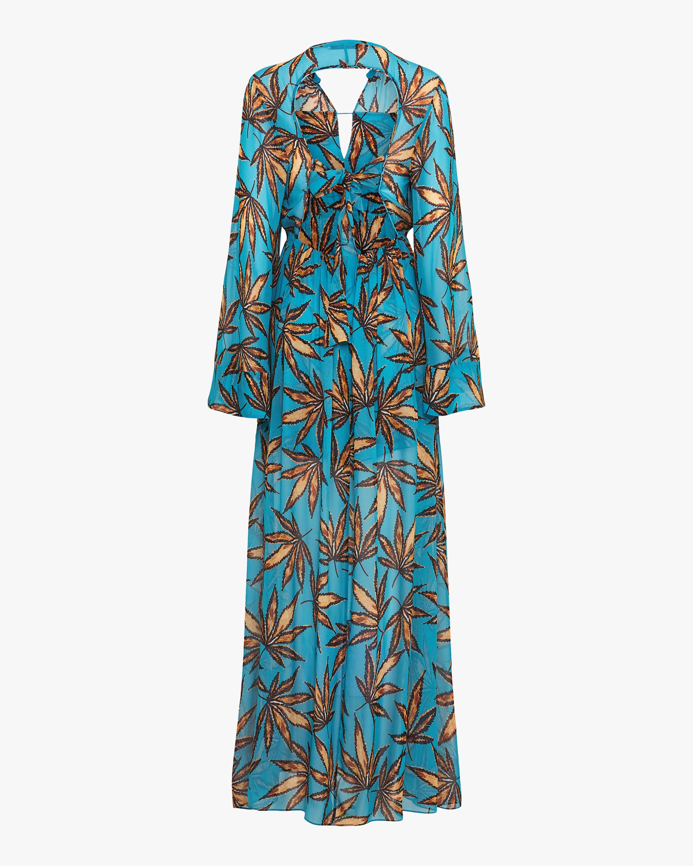 Dorothee Schumacher Translucent Leaves Maxi Dress 2