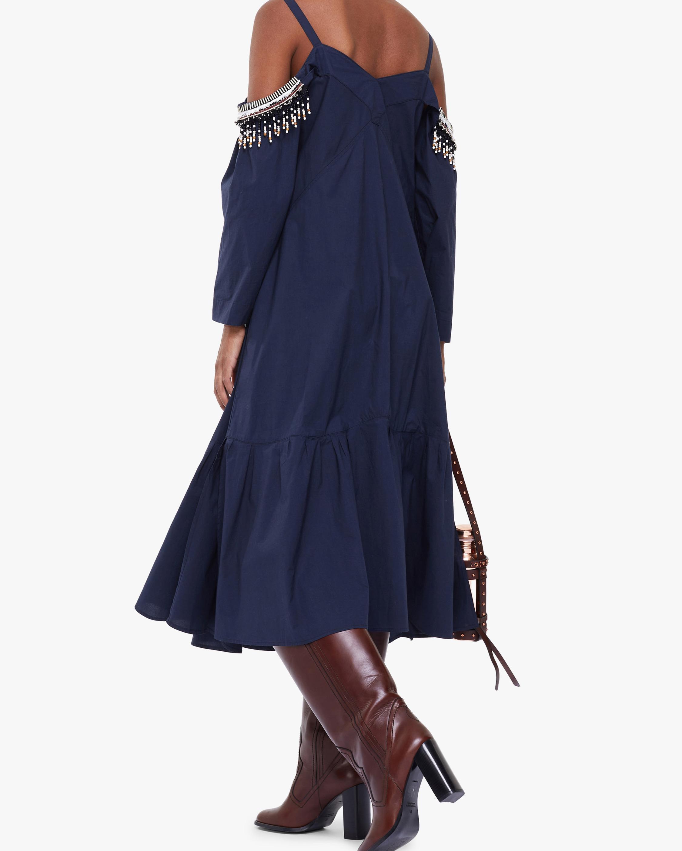 Dorothee Schumacher Fantasy Poplin Off-Shoulder Dress 3
