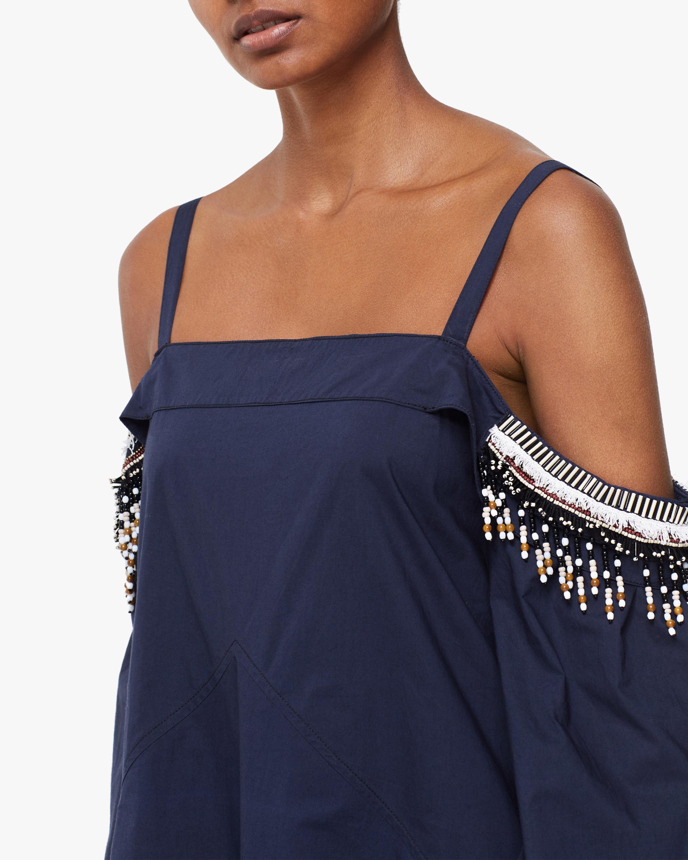 Dorothee Schumacher Fantasy Poplin Off-Shoulder Dress 4