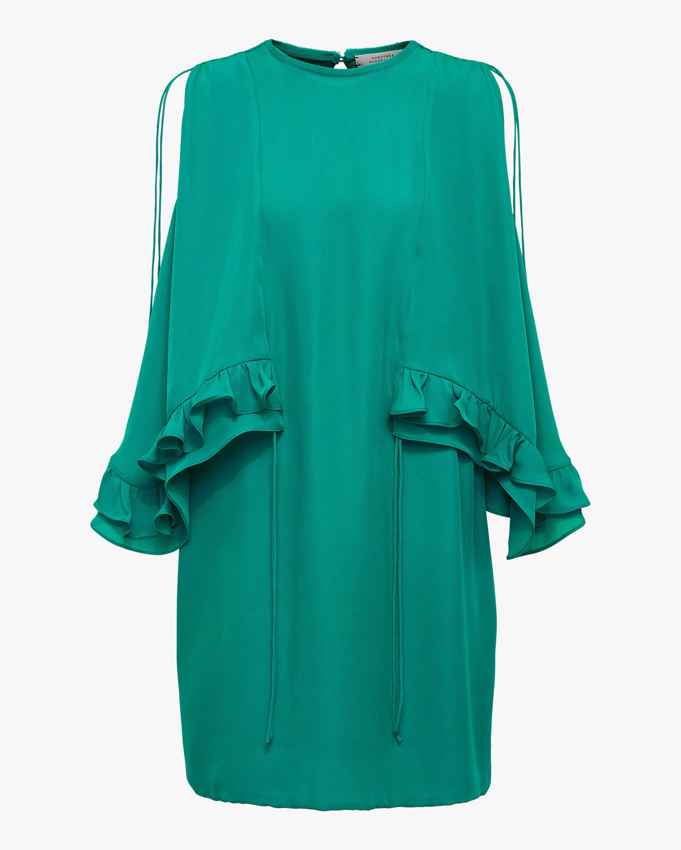 Dorothee Schumacher Fluid Luxury Cold Shoulder Dress 0