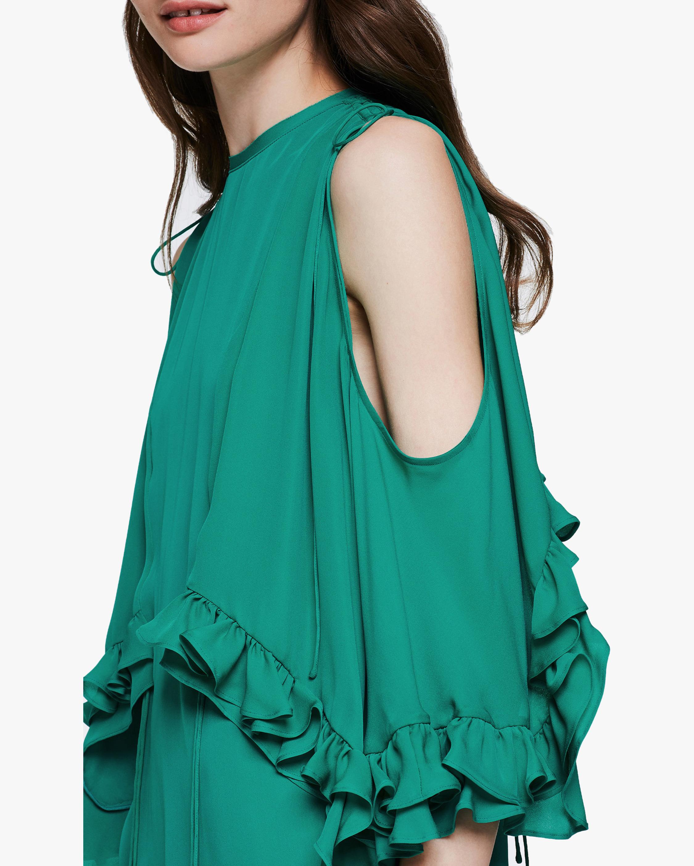Dorothee Schumacher Fluid Luxury Cold Shoulder Dress 4