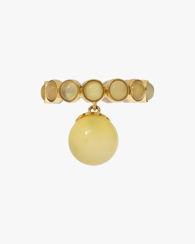 Juliette Du Jacob Yellow Chalcedony Hanging Ring 1