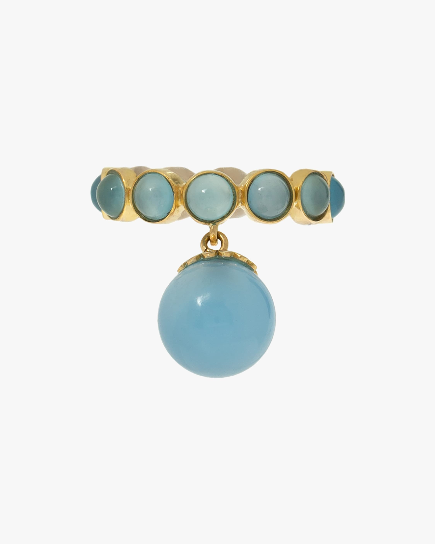 Juliette Du Jacob Blue Chalcedony Hanging Ring 1