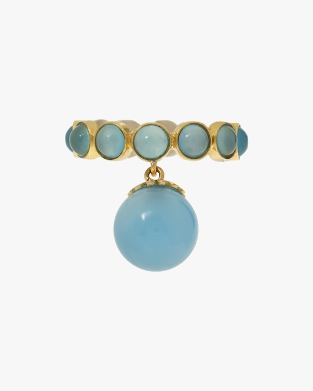 Juliette Du Jacob Blue Chalcedony Hanging Ring 0