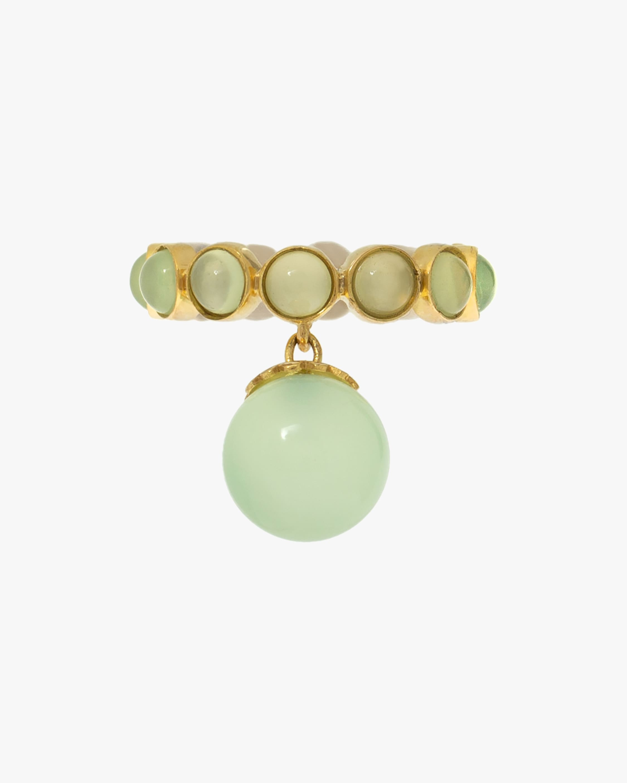 Juliette Du Jacob Green Chalcedony Hanging Ring 1