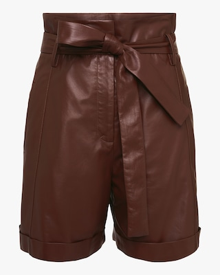 Dorothee Schumacher Exciting Softness Leather Shorts 1