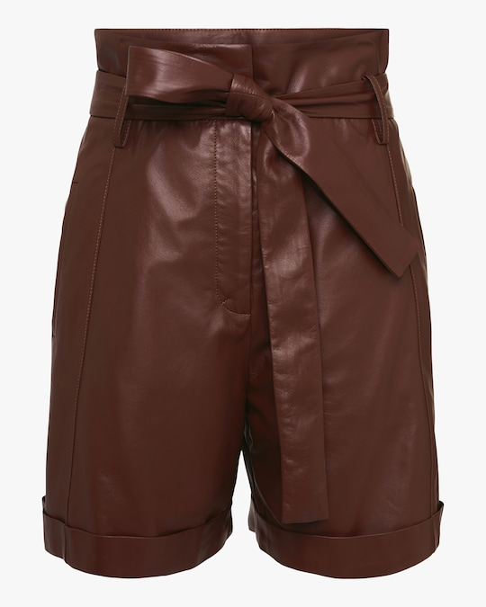 Dorothee Schumacher Exciting Softness Leather Shorts 0