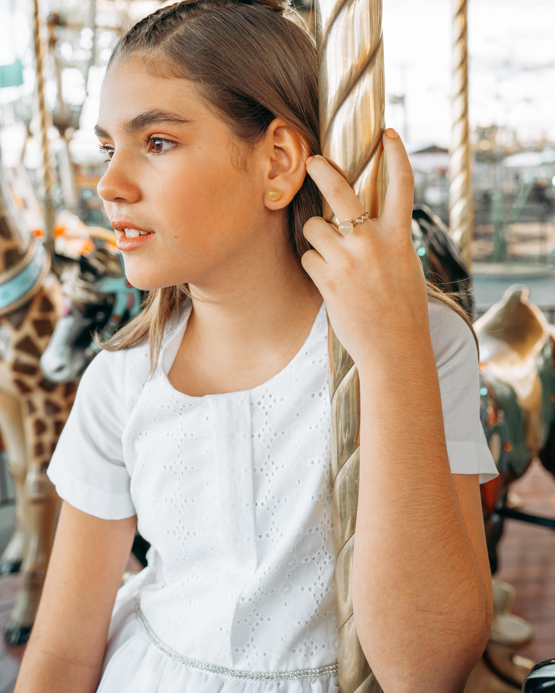 Juliette Du Jacob Yellow Chalcedony Stud Earrings 2