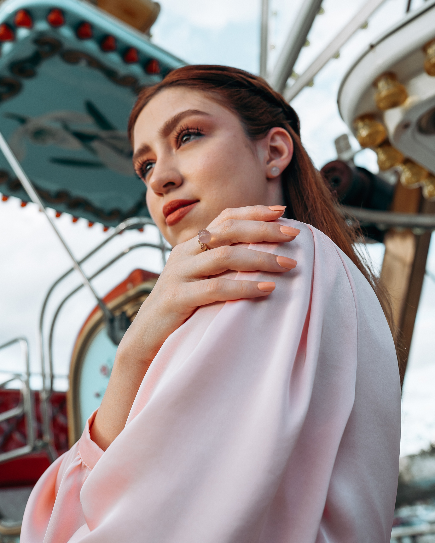 Juliette Du Jacob Rose Chalcedony Stud Earrings 2