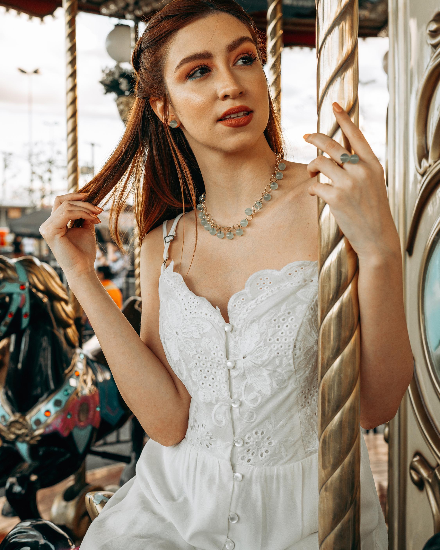 Juliette Du Jacob Green Chalcedony Stud Earrings 1