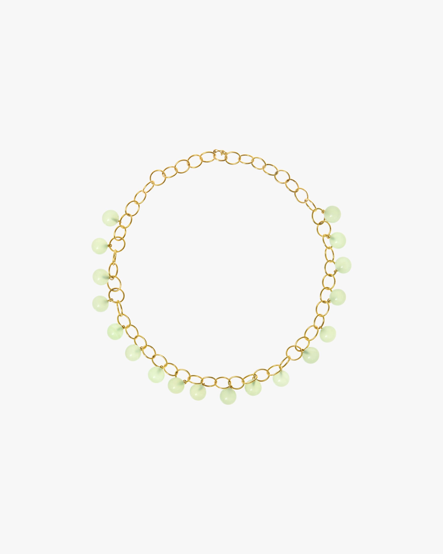 Juliette Du Jacob Green Chalcedony Station Necklace 1