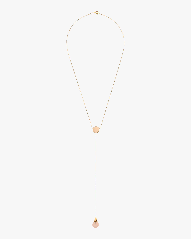 Juliette Du Jacob Rose Chalcedony Lariat Necklace 1