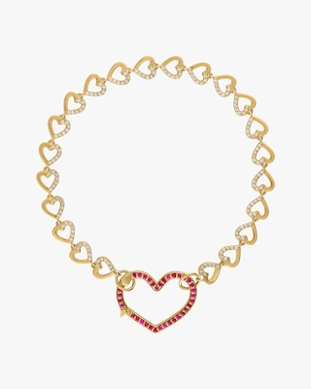 Eden Presley Heart Diamond & Ruby Bracelet 1