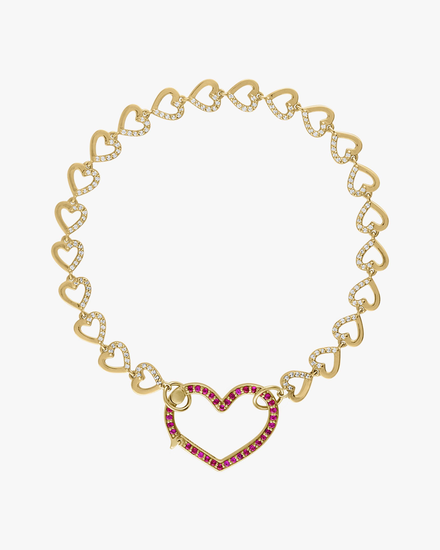 Eden Presley Heart Diamond & Ruby Bracelet 0