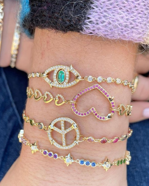 Eden Presley Peace Rainbow Sapphire Bracelet 1
