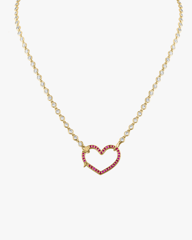 Eden Presley Heart Diamond & Ruby Pendant Necklace 0
