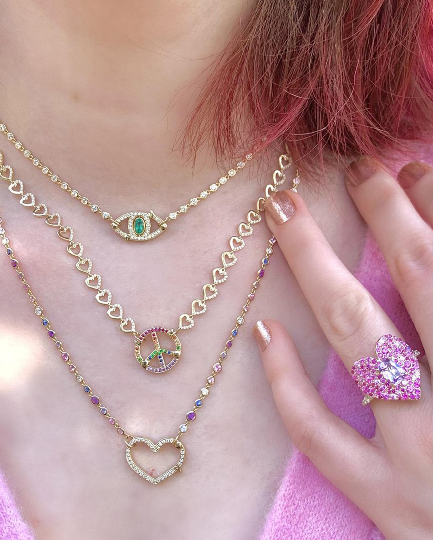 Eden Presley Heart Diamond & Ruby Pendant Necklace 2