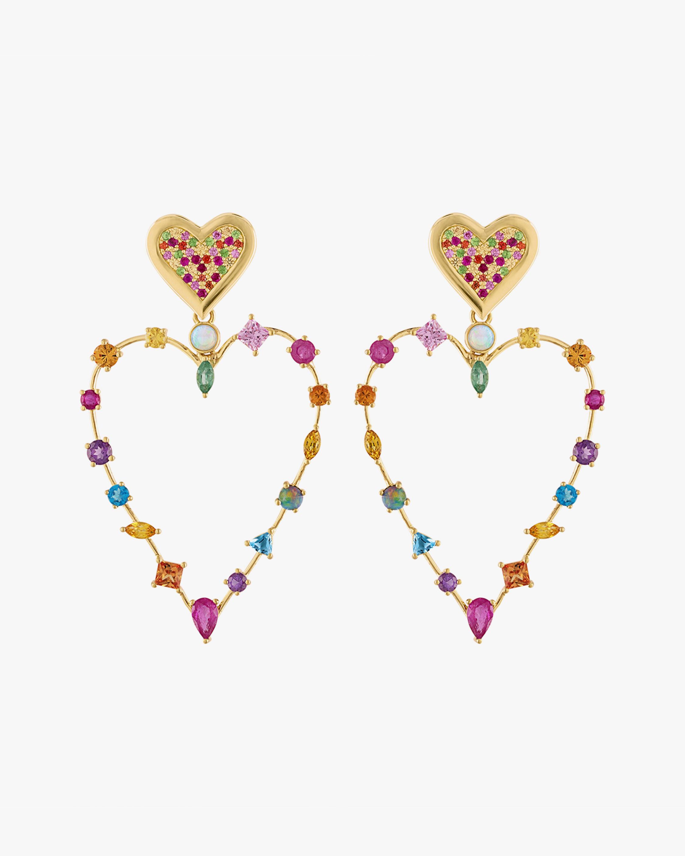 Eden Presley Heart Transformer Earrings 0