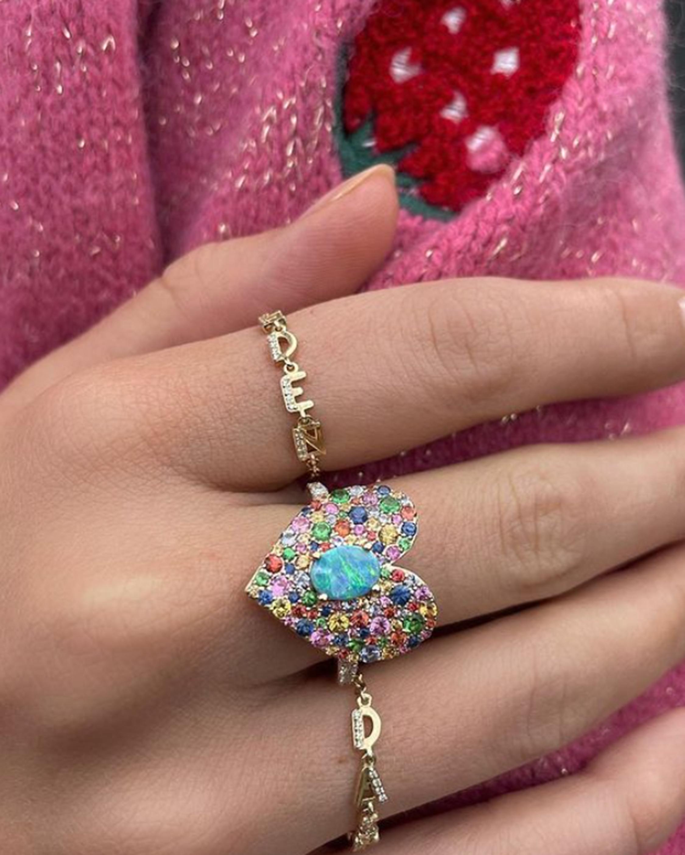 Eden Presley Love Luck Rainbow Ring 1