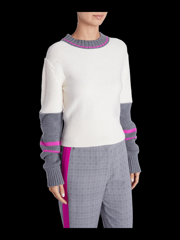 Colorblock Crew Neck Sweater Jason Wu GREY