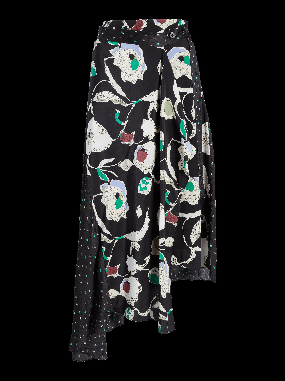 Floral Asymmetrical Skirt