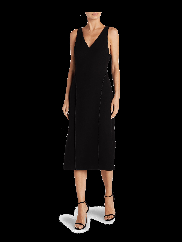 Stretch V Neck Sleeveless Dress