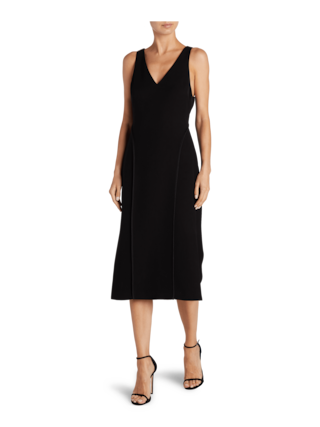 Stretch V Neck Sleeveless Dress