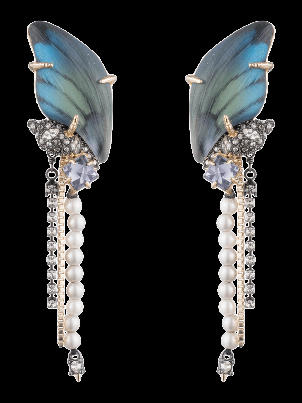 Brutalist Butterfly Clip-On Earrings
