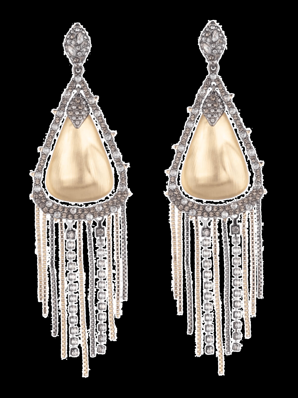 Crystal Tassel Chain Earrings