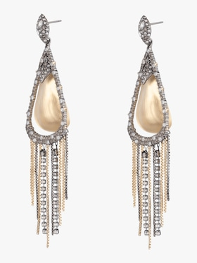Crystal Tassel Chain Earrings