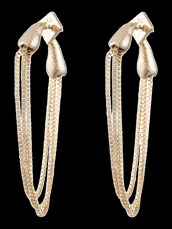Snake Chain Post Earrings