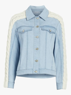 Denim Cable Knit Percy Jacket