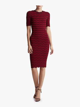 Textured Wave Fitted Dress