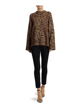 Textured Cheetah Sweater