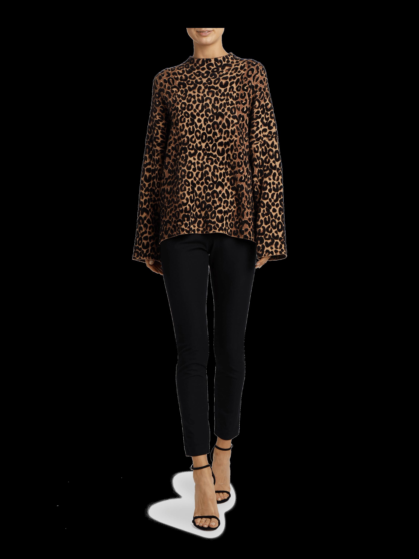 Textured Cheetah Sweater