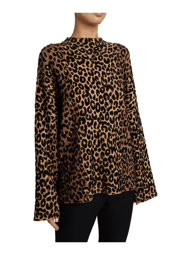Textured Cheetah Sweater Milly