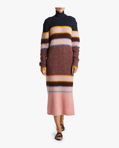 Knitted Wool Turtleneck Dress