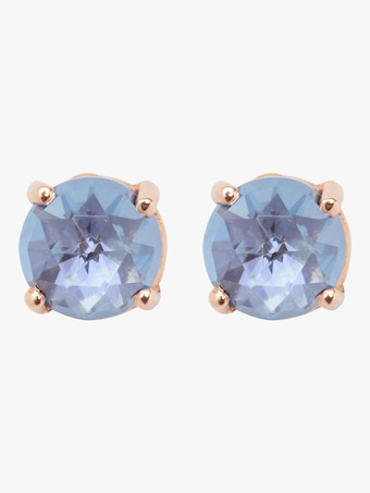 Blue Topaz Rose Gold Stud Earrings