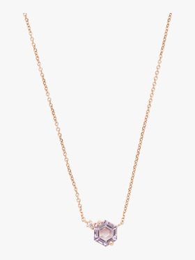 Hexagon Rose De France Necklace
