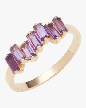 Rose Gold Amalfi Wave Band Ring