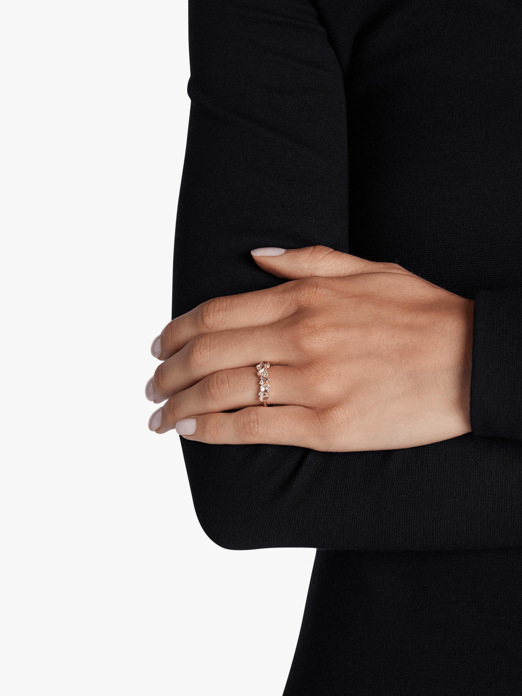 White Topaz Baguette Cluster Ring